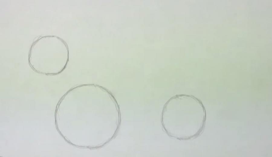 Рисуем собаку таксу карандашами - шаг 1