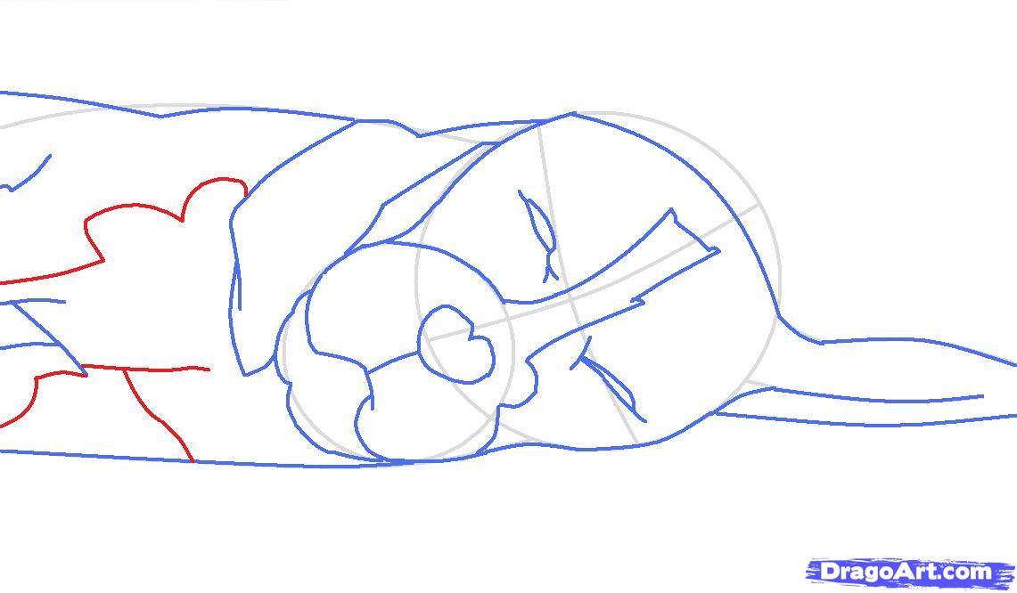 Как просто нарисовать спящую собаку - шаг 6