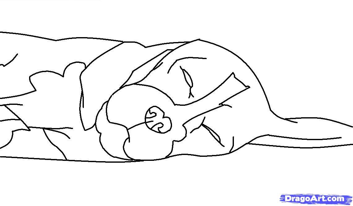 Как просто нарисовать спящую собаку - шаг 8