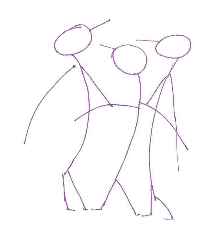 Рисуем трех пингвинов - шаг 1