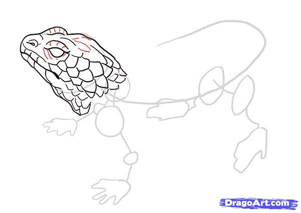 Рисуем ящерицу   для начинающих - шаг 10