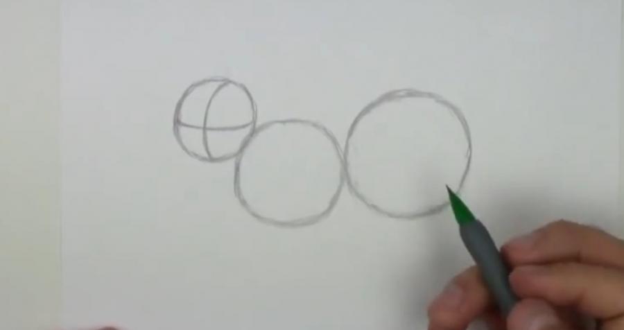 Рисуем лемура - шаг 1