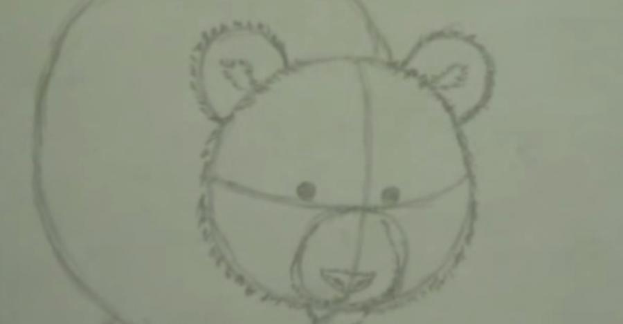 Рисуем панду - шаг 2