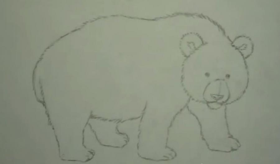 Рисуем панду - шаг 4