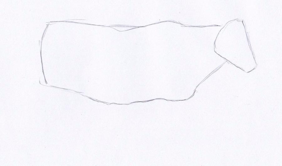 Как просто нарисовать корову  для начинающих - шаг 1