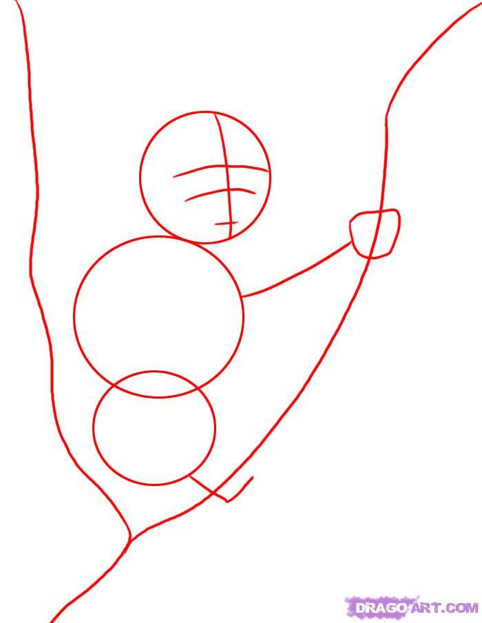 Рисуем коалу на дереве - шаг 1