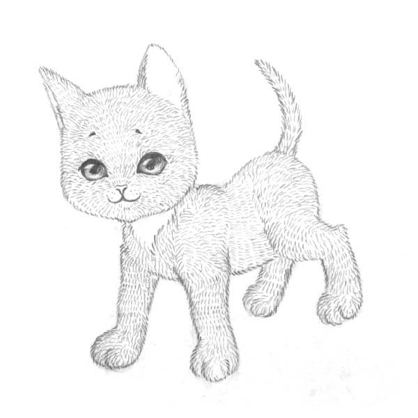 Рисуем котенка - шаг 7