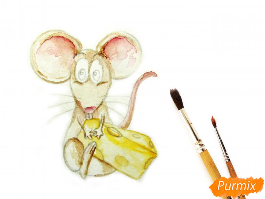 Мультяшная крыса с сыром - шаг 4