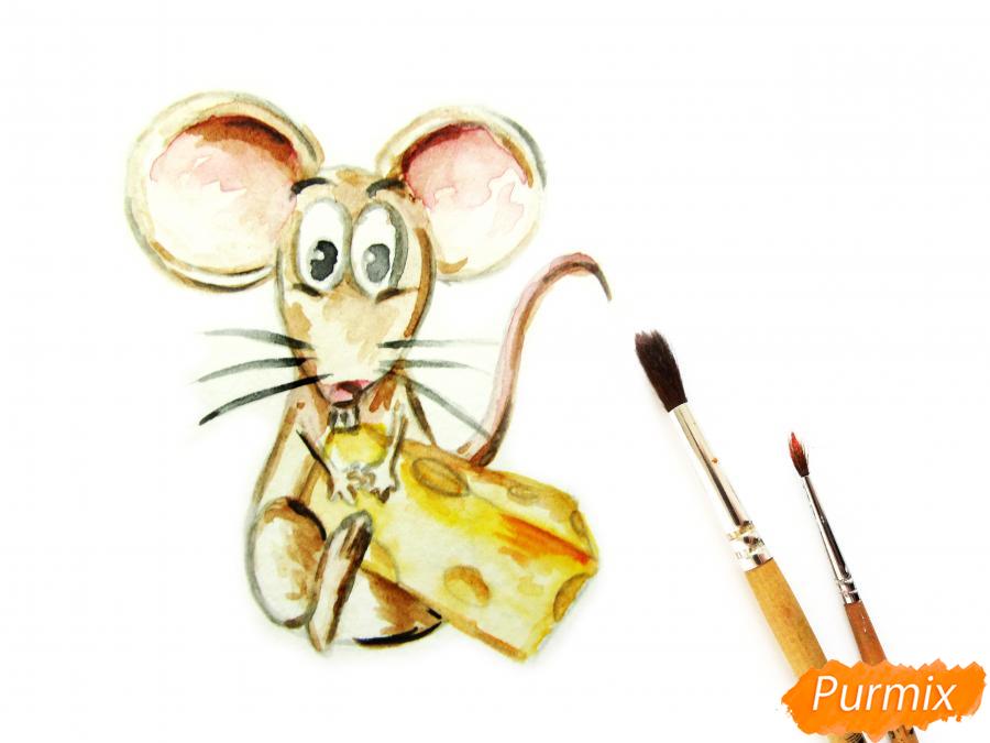 Мультяшная крыса с сыром - шаг 5