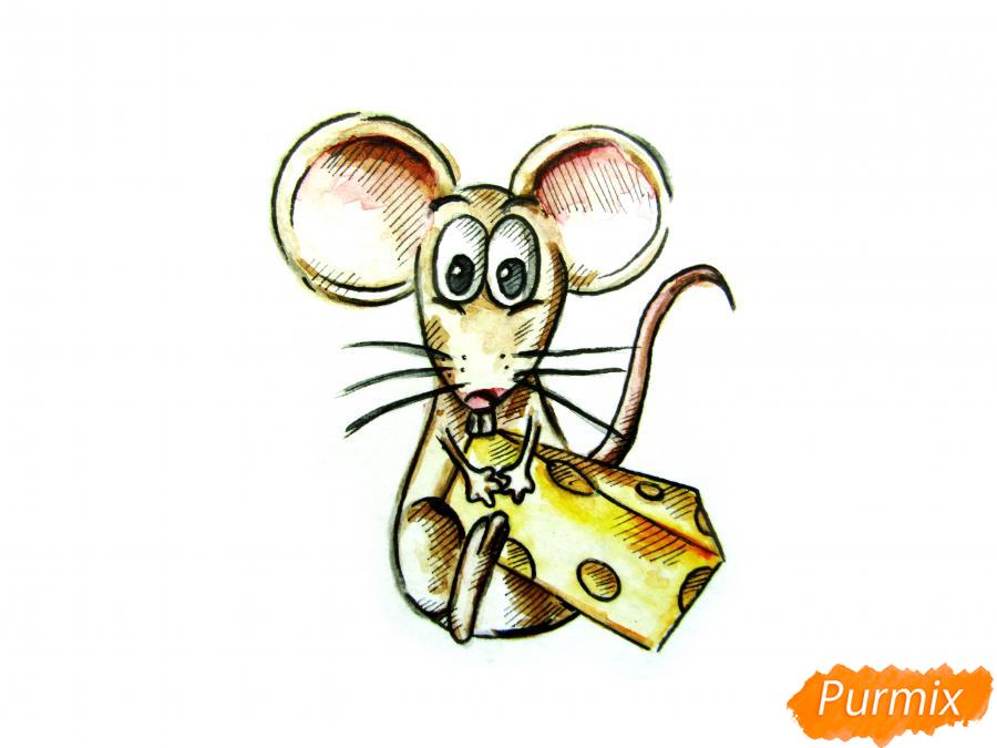 Мультяшная крыса с сыром - шаг 7