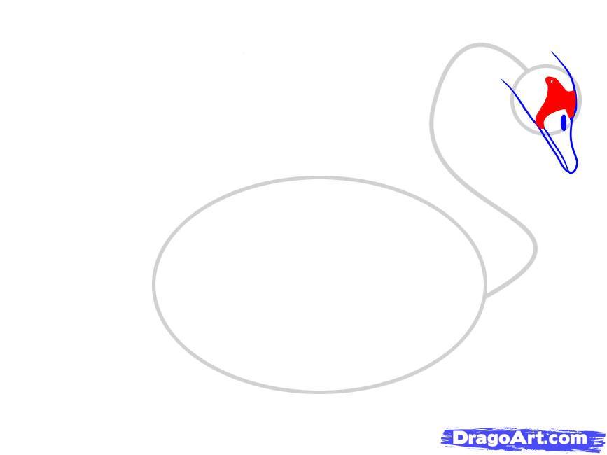 Учимся рисовать лебедя - шаг 4