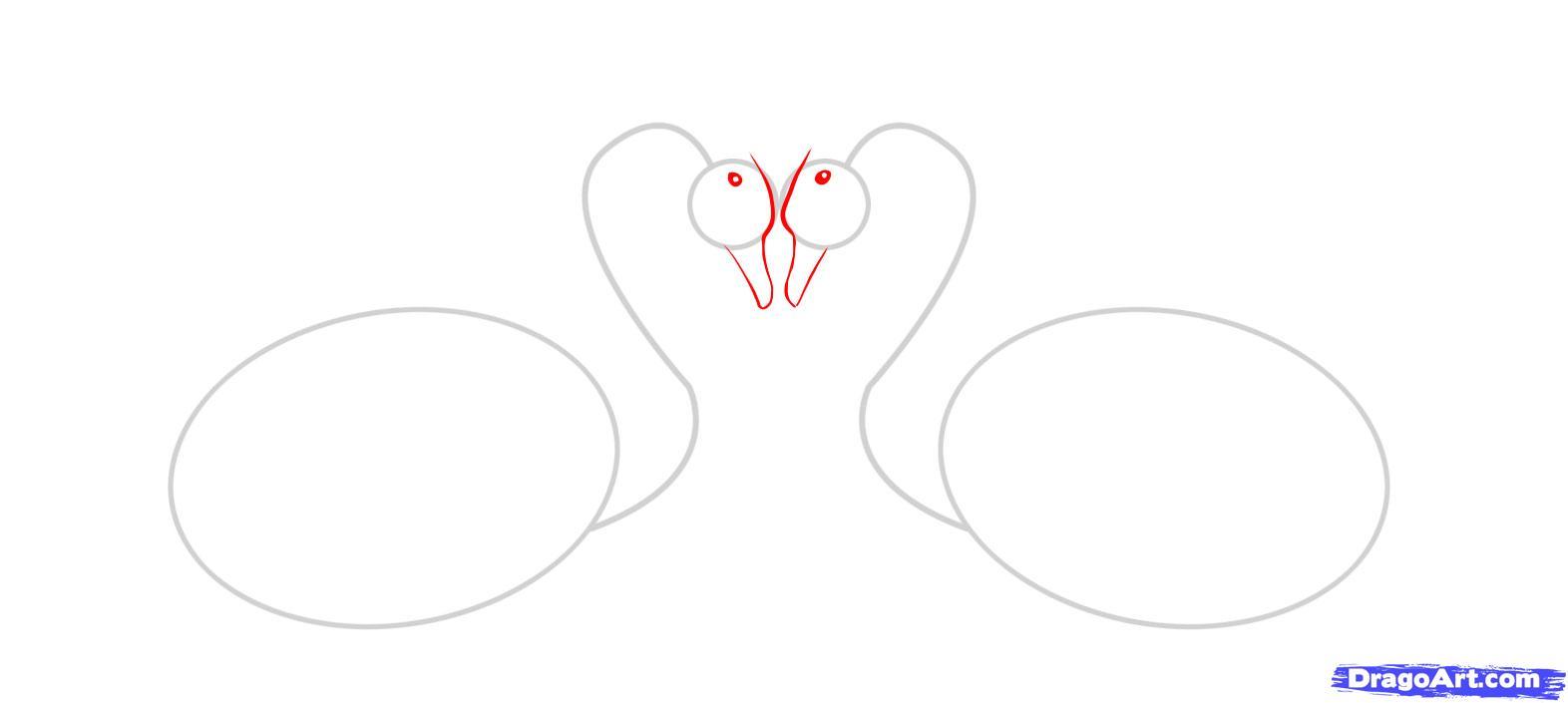 Рисуем двух лебедей - шаг 2