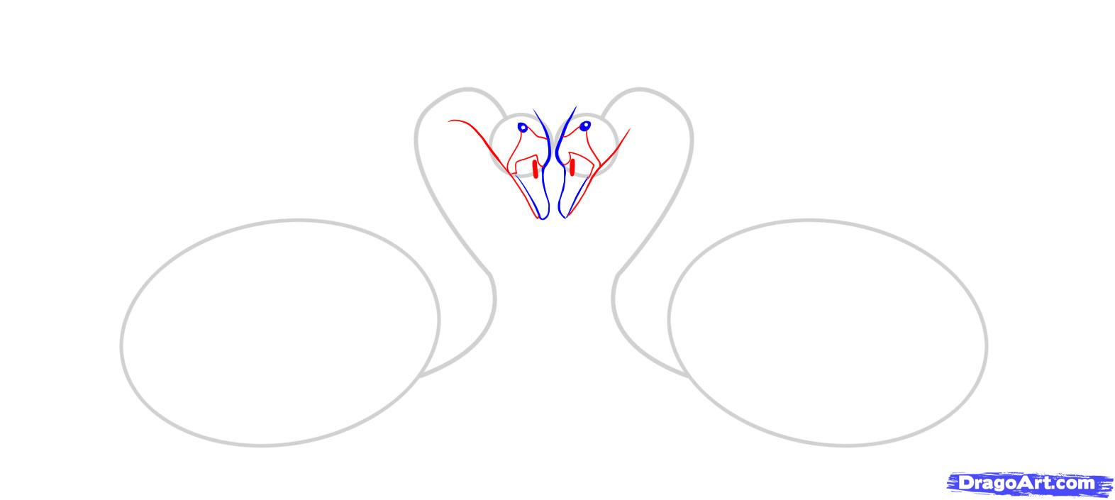 Рисуем двух лебедей - шаг 3