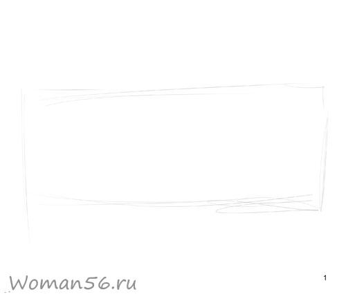 Как просто нарисовать женские глаза - шаг 1