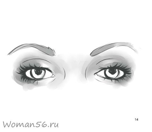 Как просто нарисовать женские глаза - шаг 14