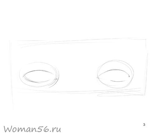 Как просто нарисовать женские глаза - шаг 3