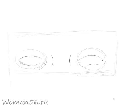 Как просто нарисовать женские глаза - шаг 4