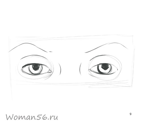 Как просто нарисовать женские глаза - шаг 9
