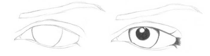 Учимся рисовать глаза человека - шаг 1