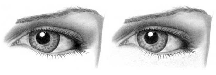 Учимся рисовать глаза человека - шаг 12