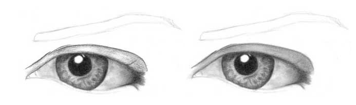 Учимся рисовать глаза человека - шаг 7