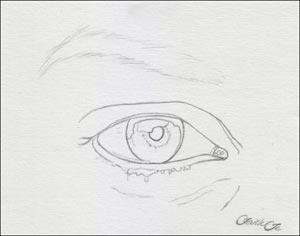 Рисуем реалистичный глаз девушки - шаг 1