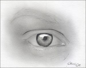 Рисуем реалистичный глаз девушки - шаг 7