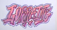 Как красиво нарисовать слово Lorraine карандашом или фломастером