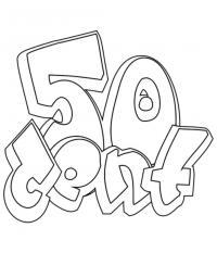 Фото 50 Cent в стиле граффити карандашом
