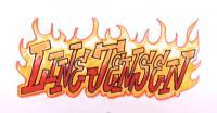 Фото горящее слово Line Jensen карандашами