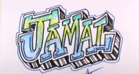 Фото имя Jamal на бумаге карандашом