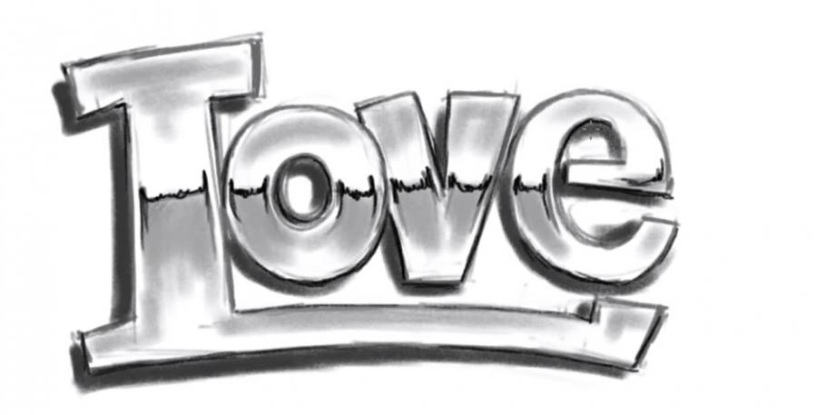 Как просто нарисовать love - шаг 5