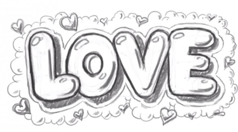Рисуем надпись Love - шаг 14