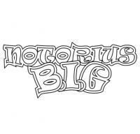 Фото слово Notorious B.I.G. карандашом на бумаге