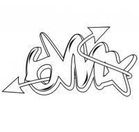 слово bmx простым карандашом