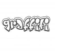 Фото слово graffiti карандашом на бумаге