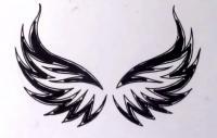 Как научиться рисовать крылья в стиле тату