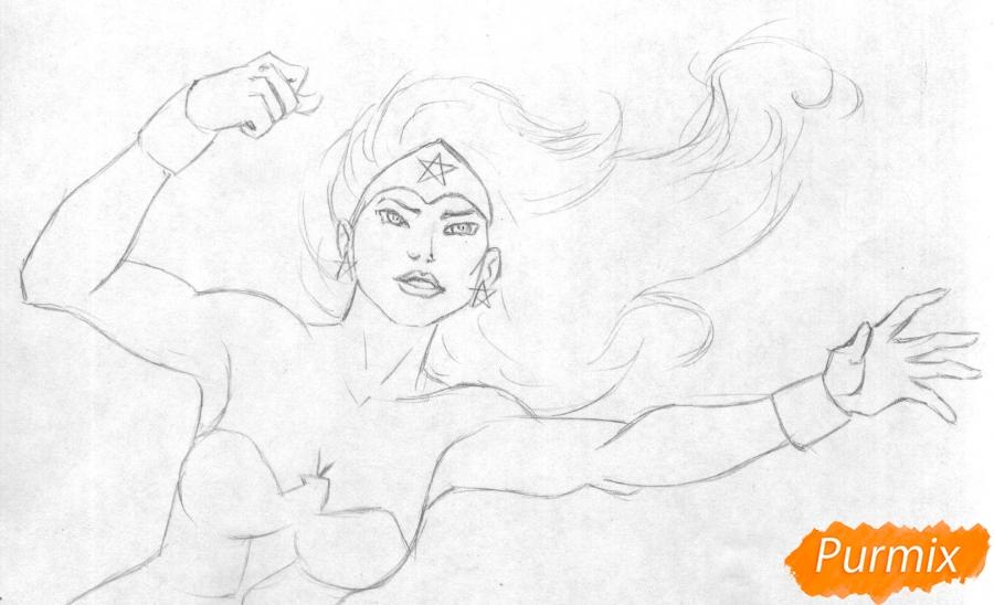 Рисуем Чудо-женщину - шаг 1