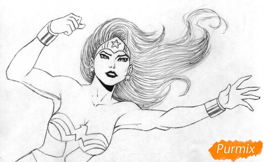 Рисуем Чудо-женщину - шаг 2
