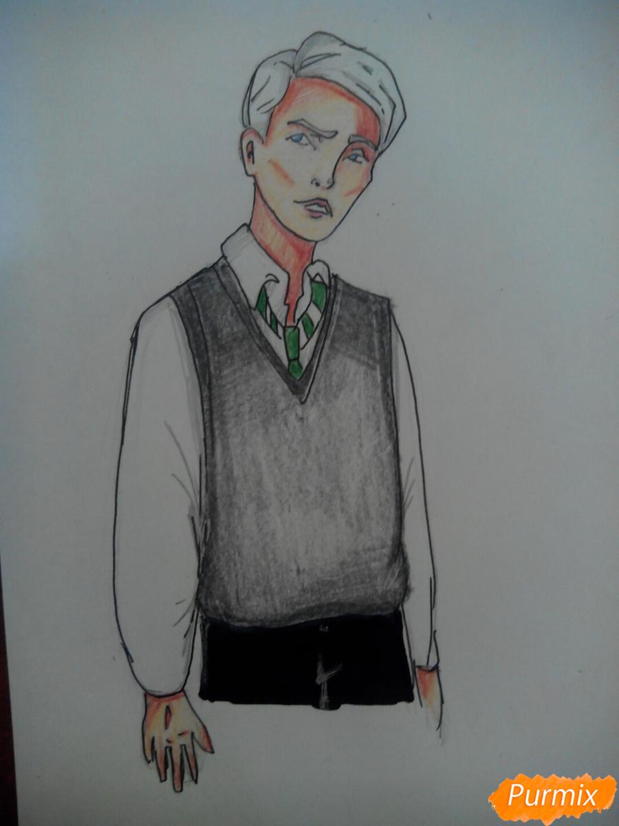 Как нарисовать Драко Малфоя из вселенной Гарри Поттера карандашами