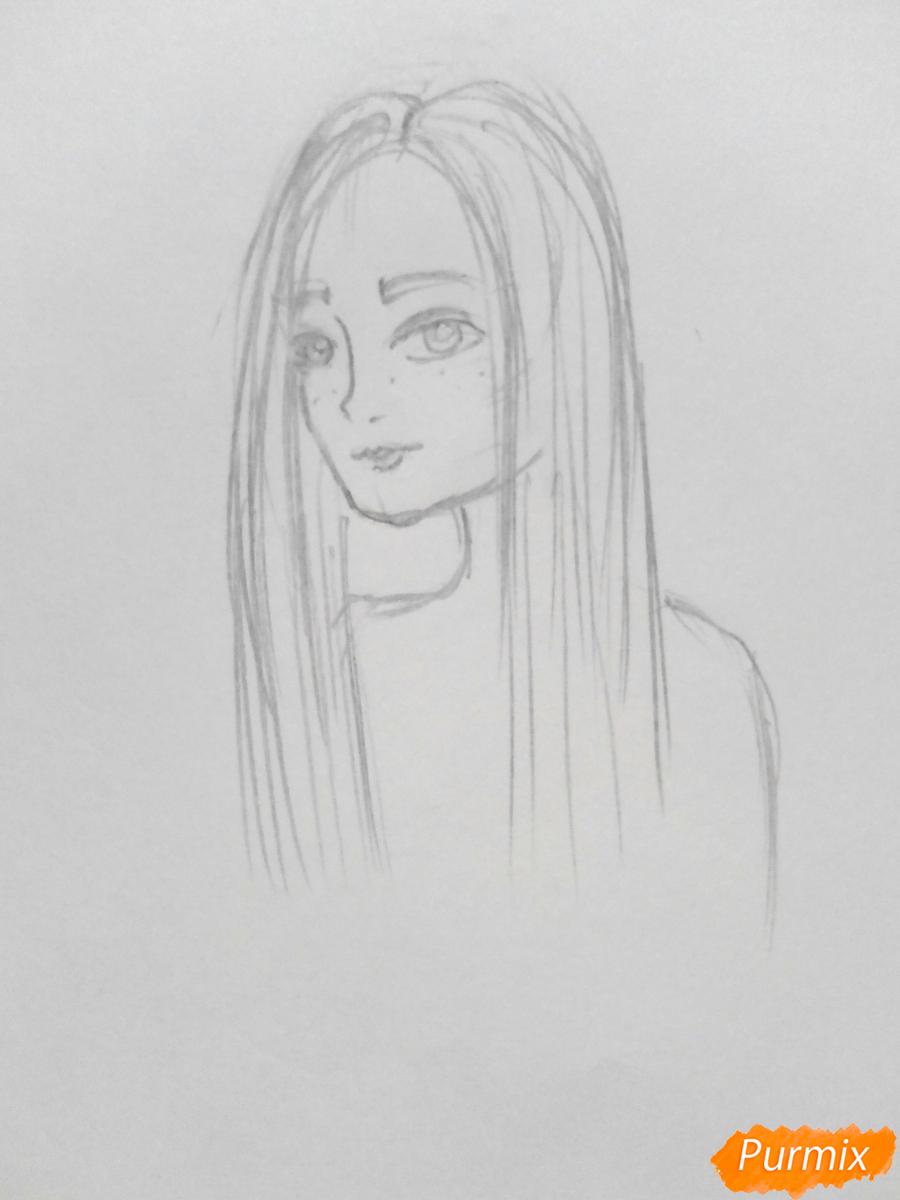 Рисуем Джинни Уизли из Гарри Поттера - шаг 4