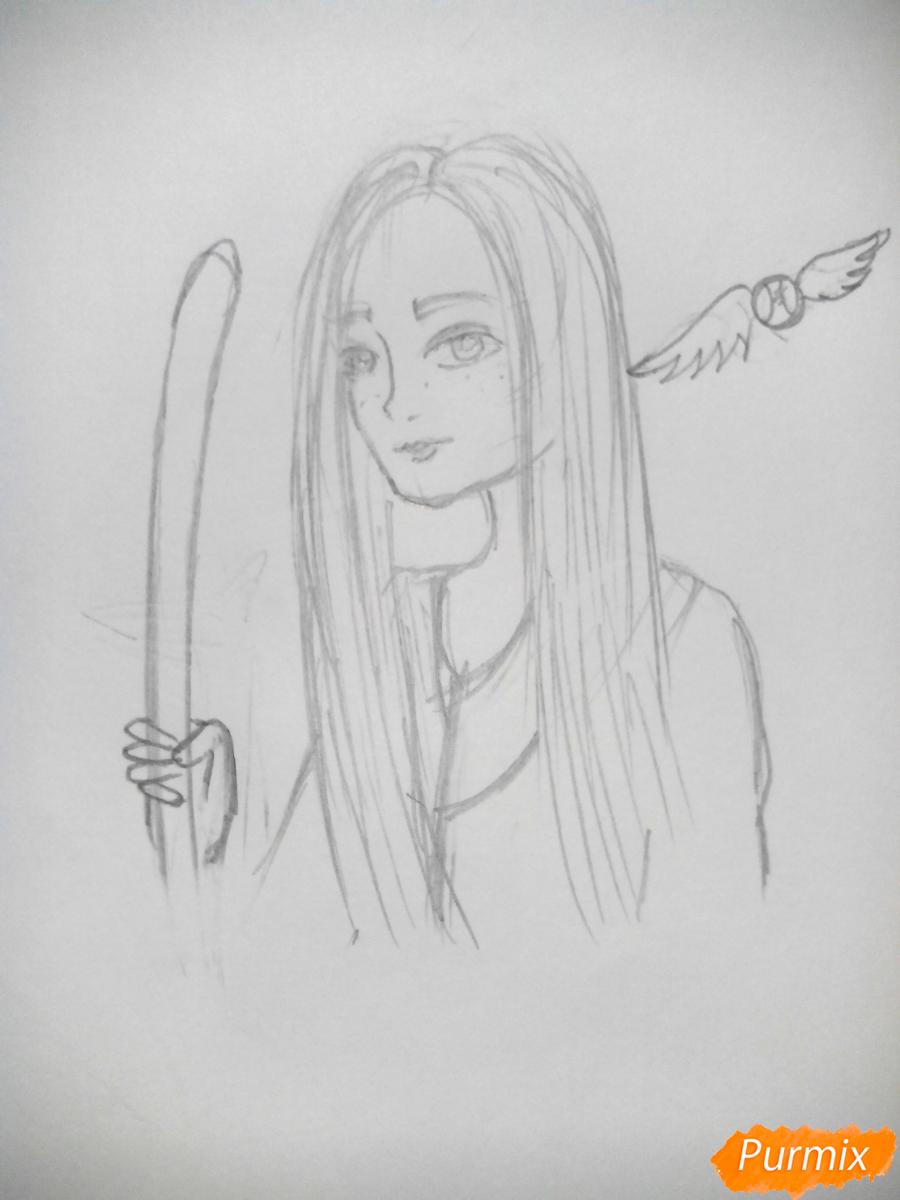 Рисуем Джинни Уизли из Гарри Поттера - шаг 6