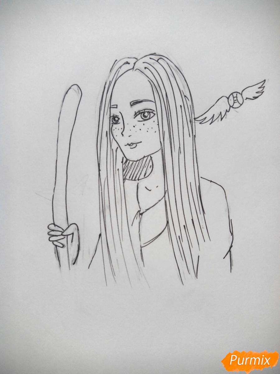 Рисуем Джинни Уизли из Гарри Поттера - шаг 7