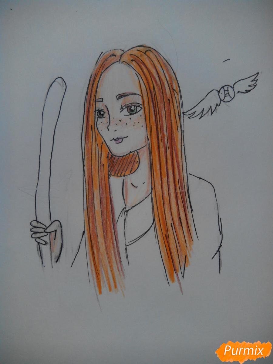 Рисуем Джинни Уизли из Гарри Поттера - шаг 9