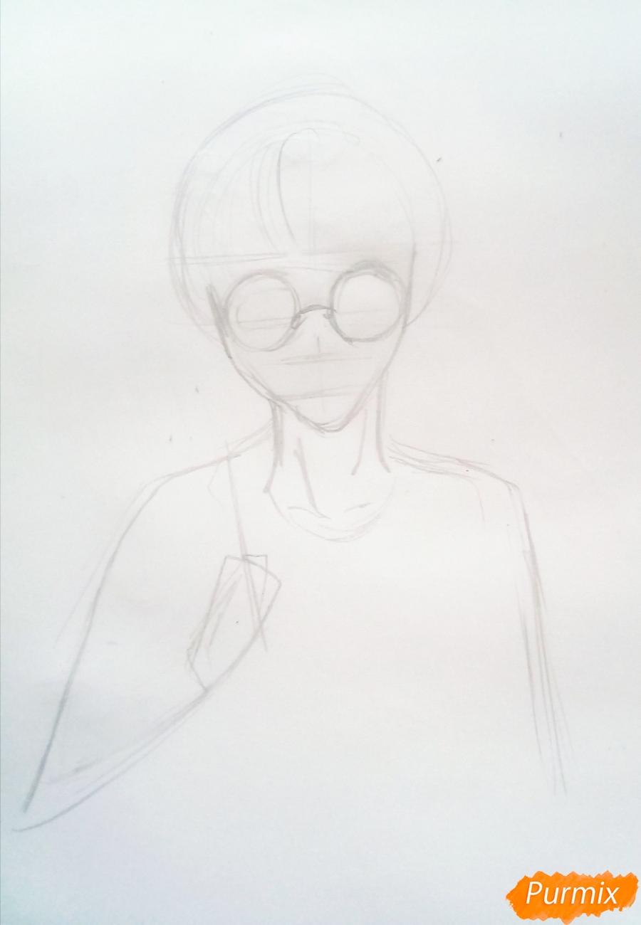 Рисуем Гарри Поттера в аниме стиле - шаг 1