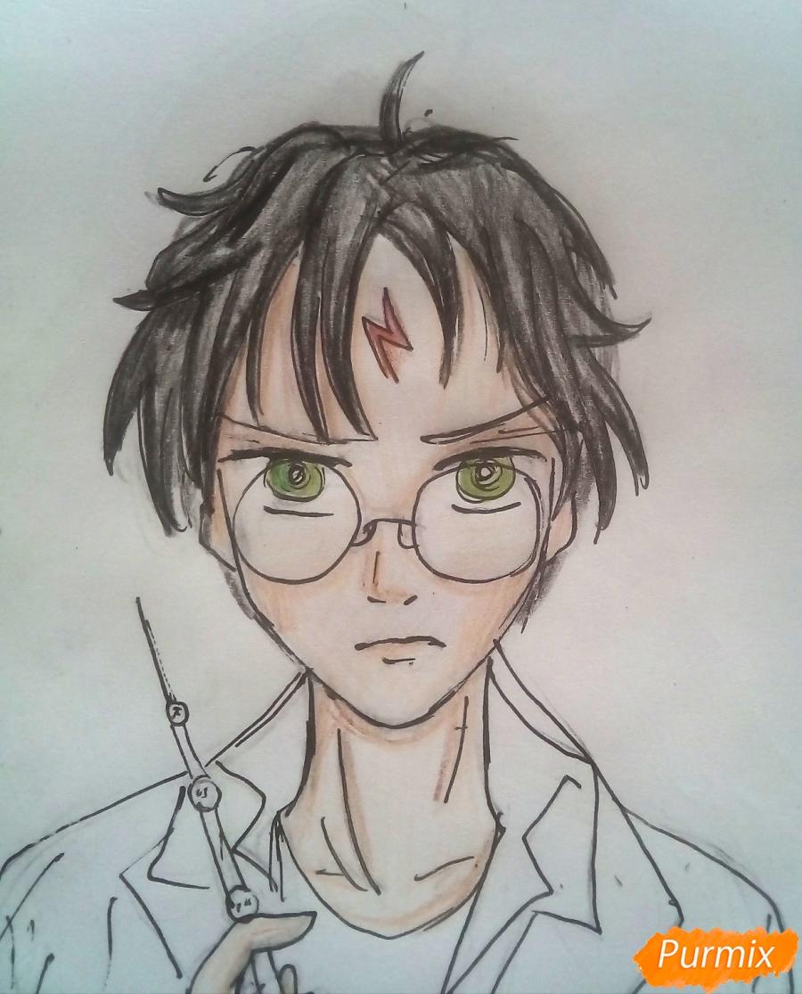 Рисуем Гарри Поттера в аниме стиле - шаг 6
