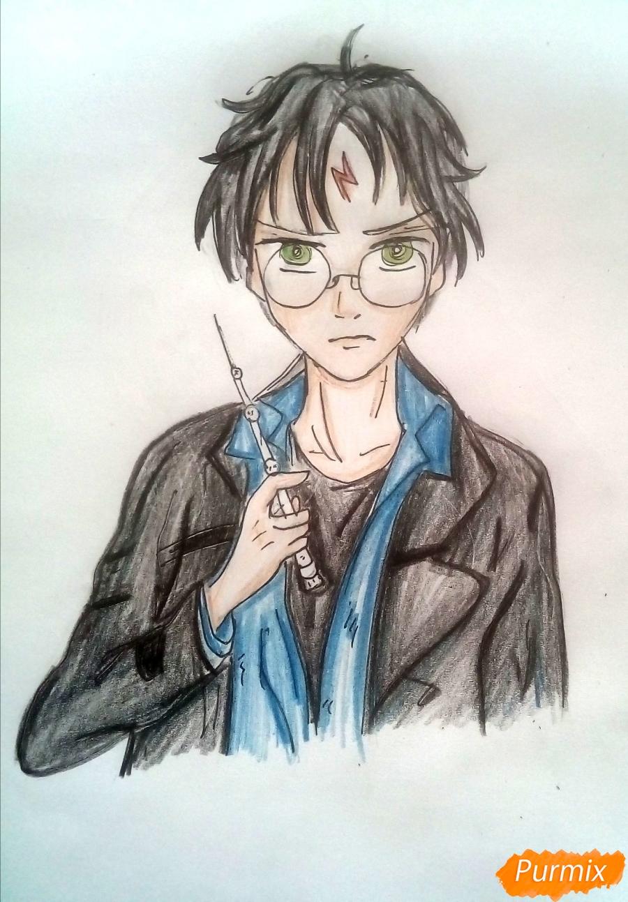 Рисуем Гарри Поттера в аниме стиле - шаг 7