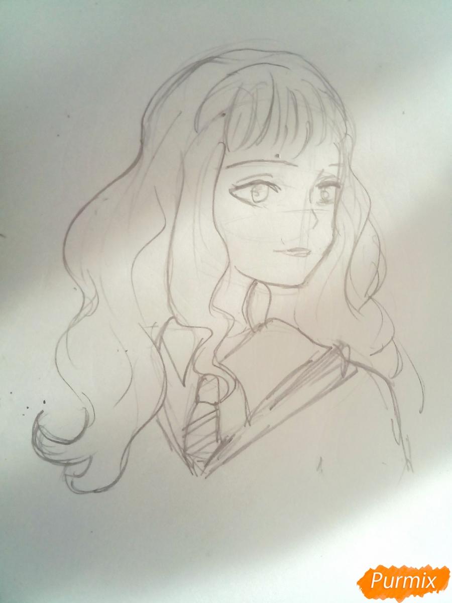Рисуем Гермиону Грейнджер из Гарри Поттера - шаг 4