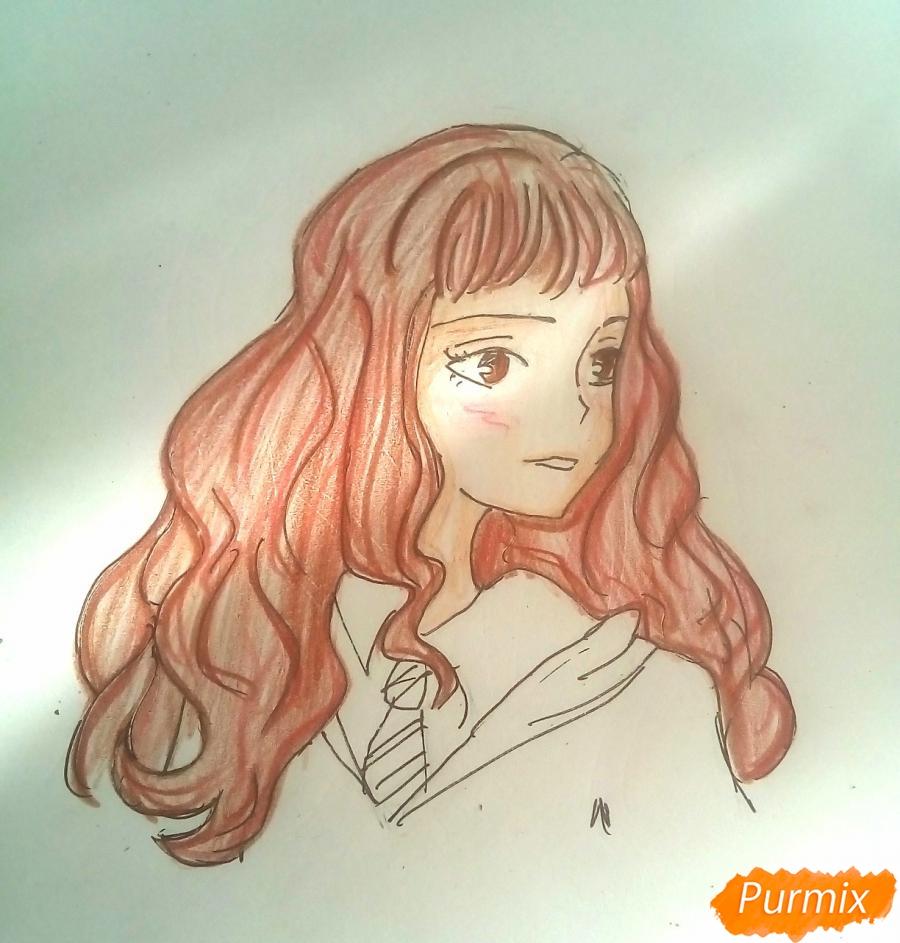 Рисуем Гермиону Грейнджер из Гарри Поттера - шаг 7