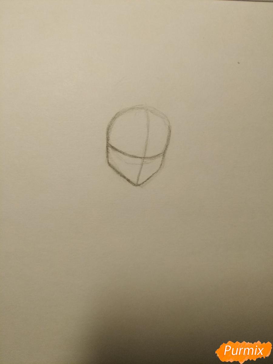 Рисуем Гермиону с книгой в аниме стиле - шаг 1